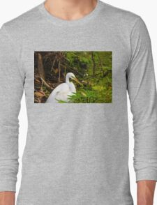 Great Blue Heron - White Long Sleeve T-Shirt