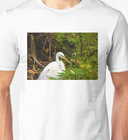 Great Blue Heron - White Unisex T-Shirt