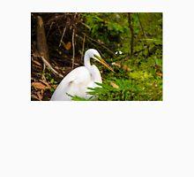 Great Blue Heron - White Unisex T-Shirt