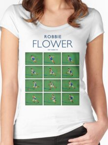 Robbie Flower, Melbourne (white shirt) Women's Fitted Scoop T-Shirt