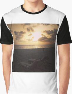 Caribbean Sunset Graphic T-Shirt