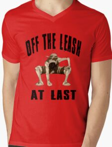 Off The Leash At Last Mens V-Neck T-Shirt