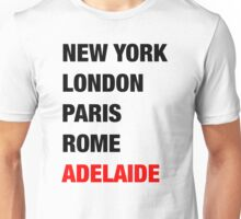 NY London Paris Adelaide (Black) Unisex T-Shirt