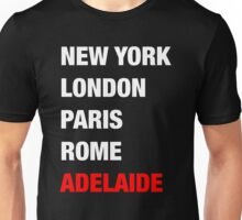 NY London Paris Adelaide (White) Unisex T-Shirt