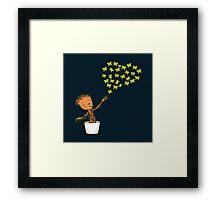 A message of Love B Framed Print