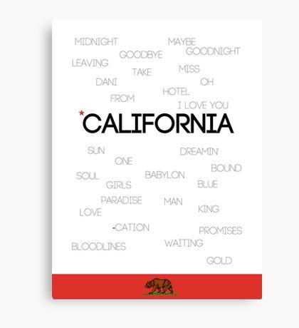California ♪ Canvas Print