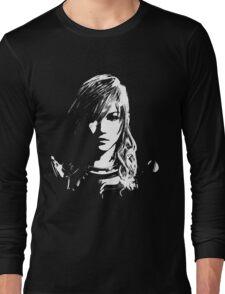 Final Fantasy XIII Lightning - Black and White Long Sleeve T-Shirt