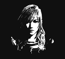 Final Fantasy XIII Lightning - Black and White Unisex T-Shirt