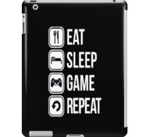 Gamer design:Eat, sleep, game, rapeat iPad Case/Skin