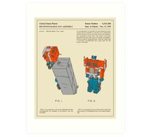 RECONFIGURABLE TOY TRUCK PATENT Art Print