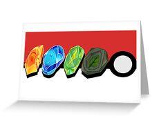 PKM Evo Stones v2 Greeting Card