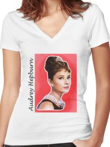 Audrey Women's Fitted V-Neck T-Shirt