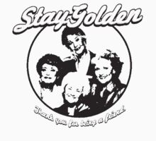 Stay Golden Girls Funny 1980s Funny Hilarious Vintage Unisex T-Shirt by beedoo