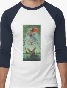 Haunted mansion umbrela  Men's Baseball ¾ T-Shirt
