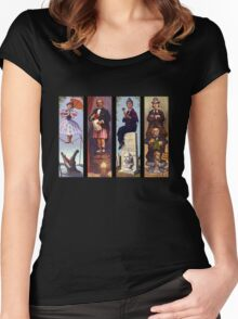All characther haunted mansion Women's Fitted Scoop T-Shirt
