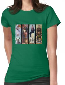 All characther haunted mansion Womens Fitted T-Shirt