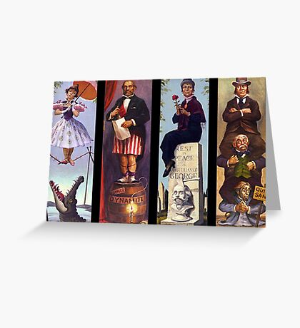 All characther haunted mansion Greeting Card