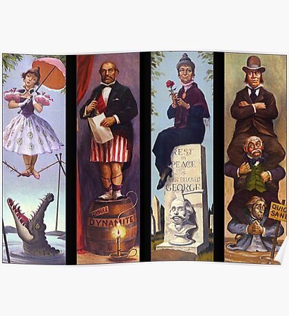 All characther haunted mansion Poster