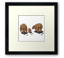 Bear Bums! Framed Print