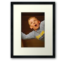 Falling Boy Framed Print