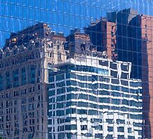 Lower Manhattan reflections by Ian Fegent