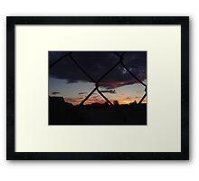 Chain Link Sky Framed Print