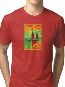Not All Who Wander Are Lost Chinese Junks On Still Waters Tri-blend T-Shirt