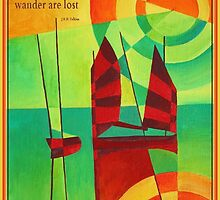 Not All Who Wander Are Lost Chinese Junks On Still Waters by taiche
