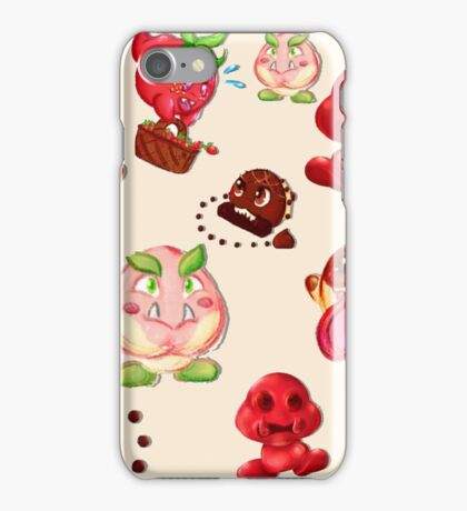 Food Enemy Nintendo iPhone Case/Skin