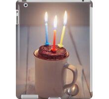 Mug cake with candle iPad Case/Skin