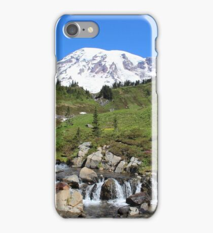 Beauty And The Beast - Mount Rainier Streaming Down iPhone Case/Skin