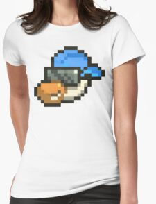 Large Blue Hat Chancy Womens Fitted T-Shirt