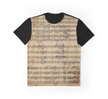 Beethoven's 9th on Antique Paper Graphic T-Shirt