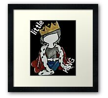 Simplistic Little King Design Framed Print