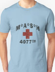 Mash 4077th tv division vintage style funny nerd geek geeky T-Shirt