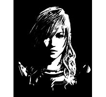 Final Fantasy XIII Lightning - Black and White Photographic Print