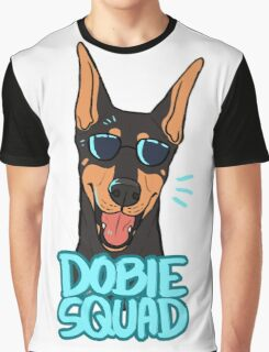 DOBIE SQUAD (black + cropped) Graphic T-Shirt
