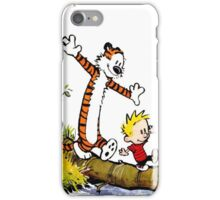 calvin and hobbes wait iPhone Case/Skin