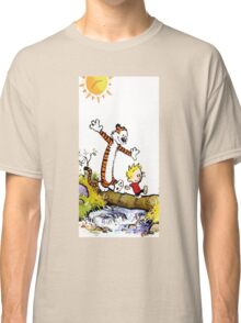 calvin and hobbes wait Classic T-Shirt