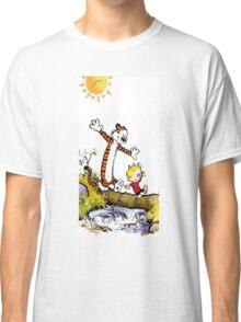 calvin and hobbes wait Classic T-Shirt