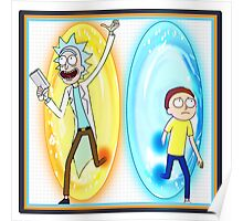 Aperture Labs Presents: Rick and Morty Poster