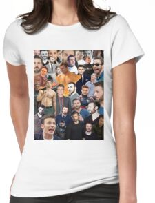 Chris Evans Collage  Womens Fitted T-Shirt