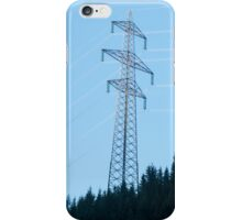 Electric pylon conducting electric power from the hydroelectric plant at Hintersee, Tirol, Austria  iPhone Case/Skin