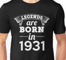 legends are born in 1931 shirt hoodie Unisex T-Shirt