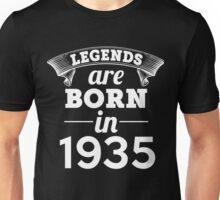 legends are born in 1935 shirt hoodie Unisex T-Shirt