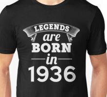 legends are born in 1936 shirt hoodie Unisex T-Shirt