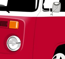 VW Camper Late Bay dark red and white Sticker
