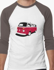 VW Camper Late Bay dark red and white Men's Baseball ¾ T-Shirt
