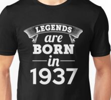 legends are born in 1937 shirt hoodie Unisex T-Shirt