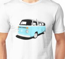 VW Camper Late Bay pale blue and white Unisex T-Shirt